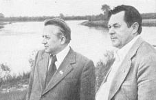 Іван Шамякін і Андрэй Макаенак