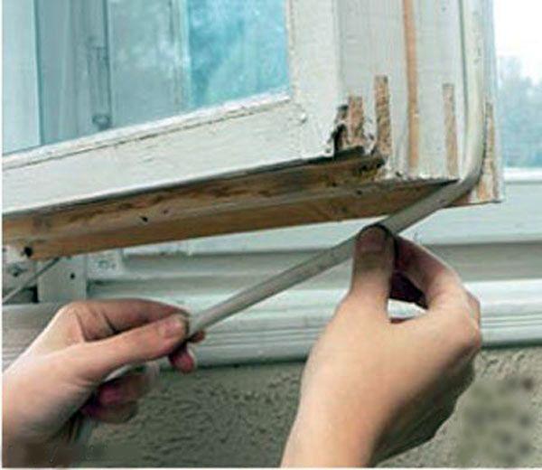 Утепление деревянных окон в домашних условиях