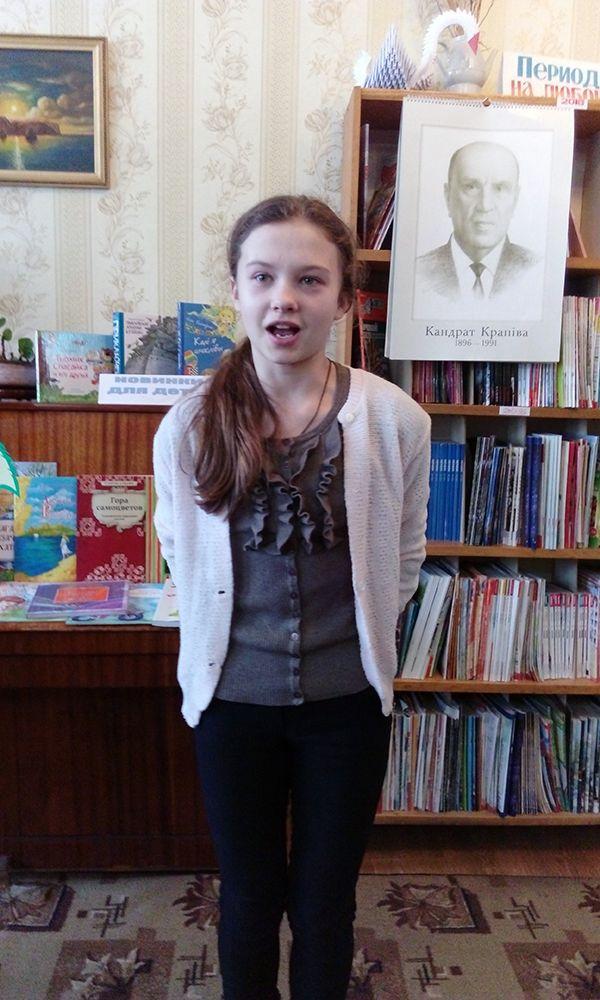 Дар'я ПЕТРУСЁВА па-майстэрску чытала творы класіка.