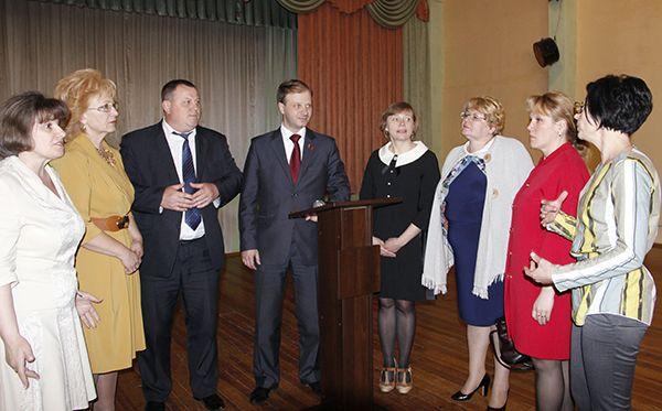 Депутат Палаты представителей Национального собрания Республики Беларусь Владислав ЩЕПОВ встретился с избирателями в СШ №5.