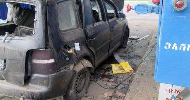 Взрывом на заправке в Барановичах водителю оторвало ногу
