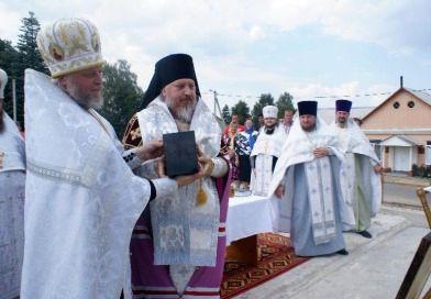 В агрогородке Лучин Рогачевского района освятили закладной камень в основание будущей церкви