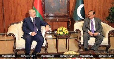 Александр Лукашенко и Мамнун Хусейн