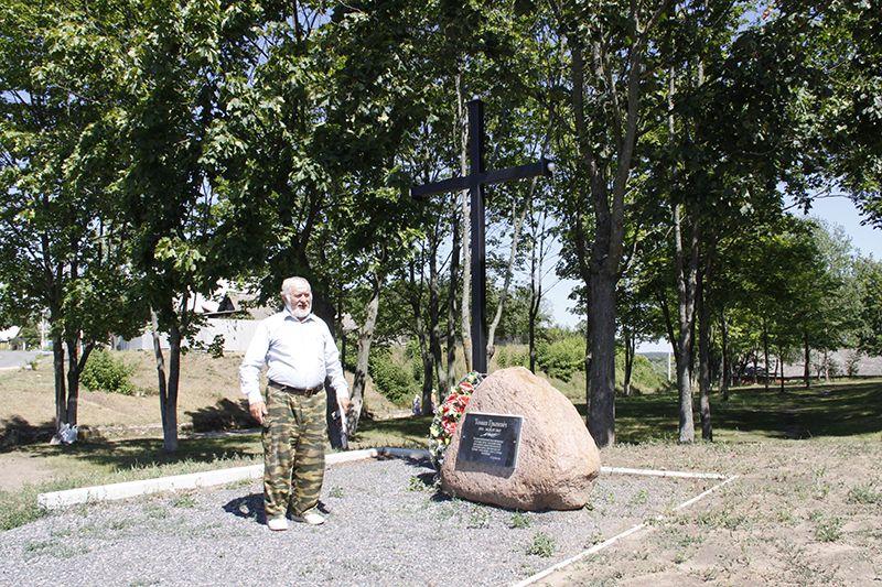 Міхаіл Альха распавядае пра асаблівасці ўстаноўкі памятнага знака і непасрэдна пра Томаша Грыневіча.