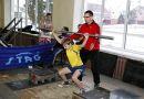 Зимние каникулы для рогачёвских ребят стали ярким событием в состязаниях по тяжелой атлетике