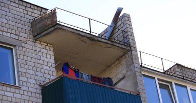 Опасность нависла над жителями дома № 24 по улице Гомельской в Рогачёве