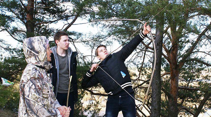 Рогачёвские ребята почувствовали себя настоящими лучниками – защитниками Зборовского замка.