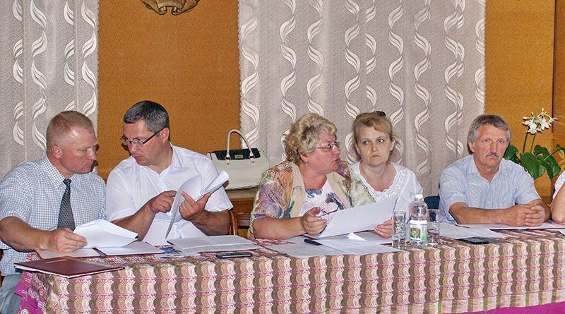Участники президиума во главе с Валентиной ГАНКОВИЧ (в центре) активно обсуждали  вопросы благоустройства района.