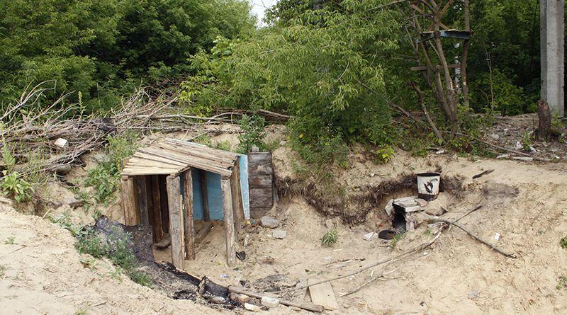 За неимением лучшего рогачёвские ребята разбили лагерь в эпицентре опасности.
