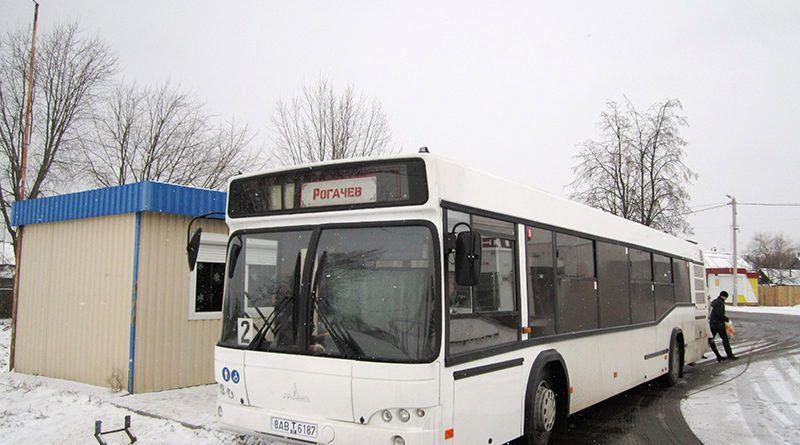 В Рогачёве в воскресенье, 18 февраля, транспорт будет курсировать как в будний день