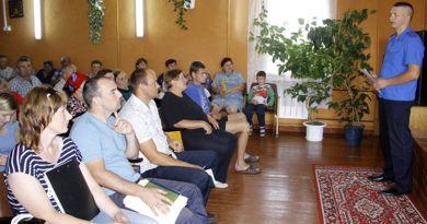 В Стреньках прошёл сельский сход, организованный Рогачёвским РОСК