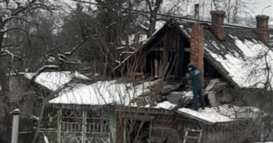 В Рогачёве на пожаре спасли пенсионера
